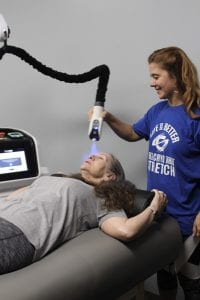 localized cryotherapy with customer