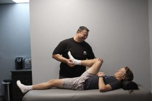 Assisted Stretching with a Customer