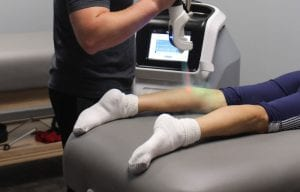 isolated cryotherapy with customer